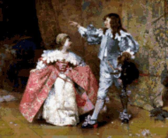 Дети в костюмах 17 века,