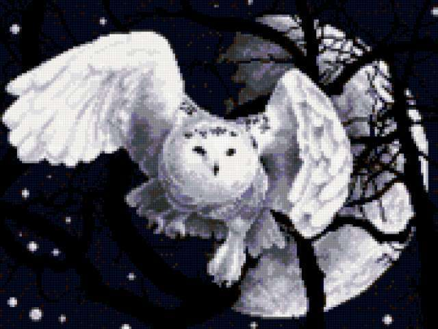 Белая ночь вышивка
