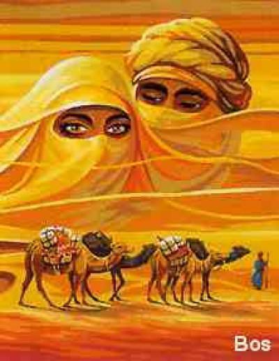 Пустыня и верблюды, оригинал