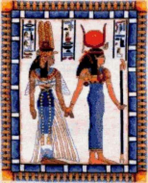Нефертити и Исида, египет,