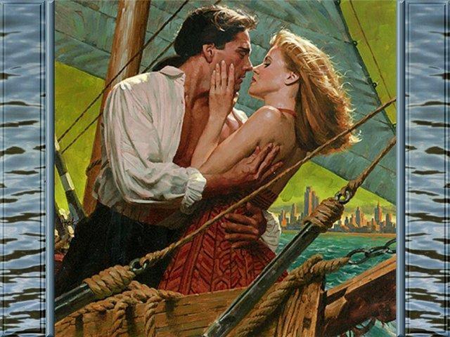 На борту яхты, романтика
