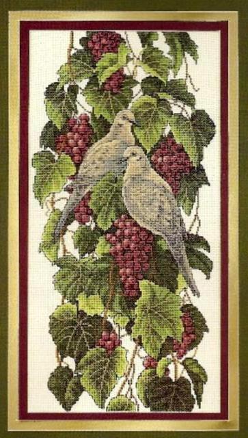 Виноград и голуби, оригинал