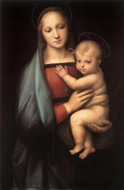 Дева Мария с младенцем,