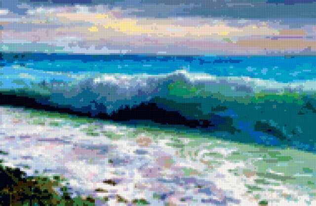 Волна, пейзаж, море, волна