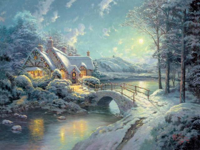 Зимушка 1, пейзаж, дерево,
