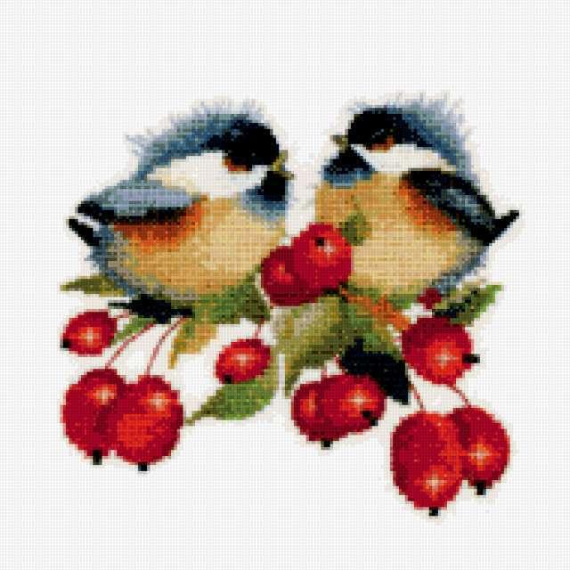 Птички и ягоды, предпросмотр