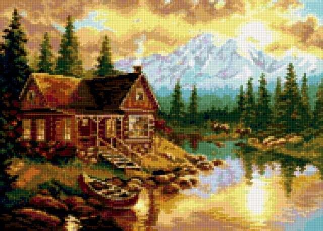 Домик у озера, предпросмотр