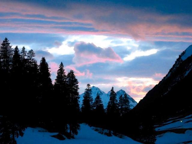 Ночные горы, горы пейзаж вечер