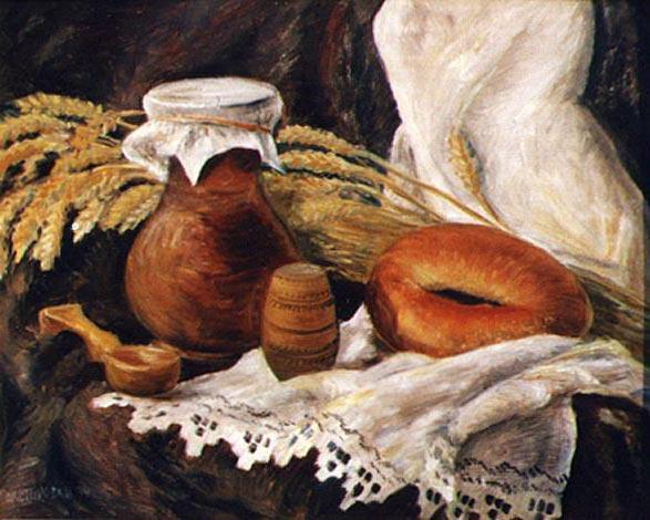 Хлеб соль, натюрморт