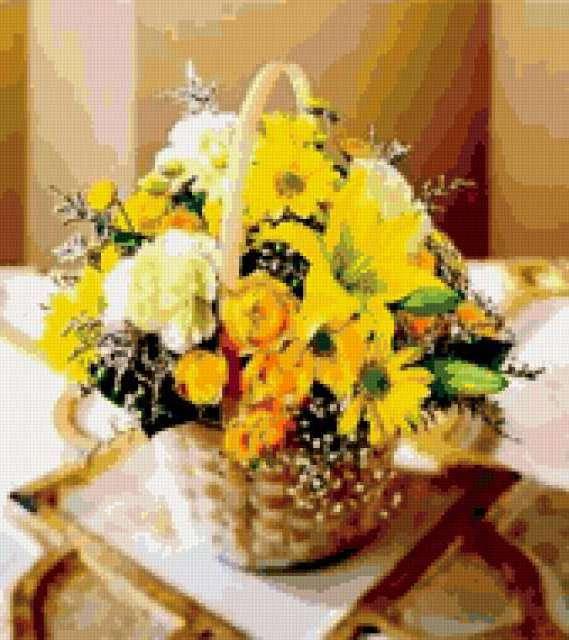 Желтый букет, предпросмотр