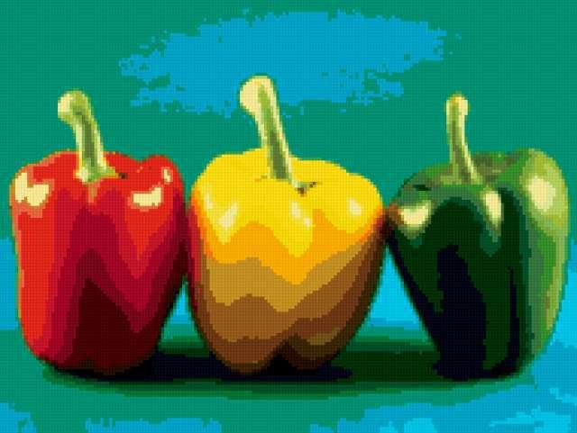 Светофор, натюрморт, овощи