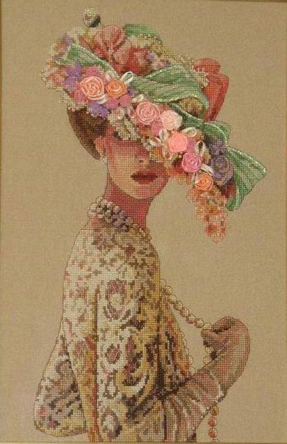 Дама в шляпе, портрет