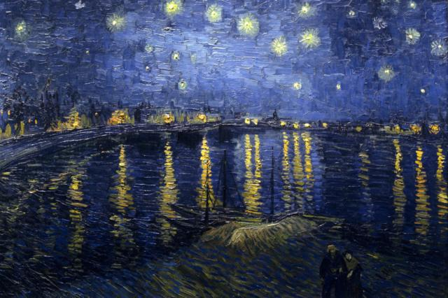 Starry Night Over the Rhone, paintings
