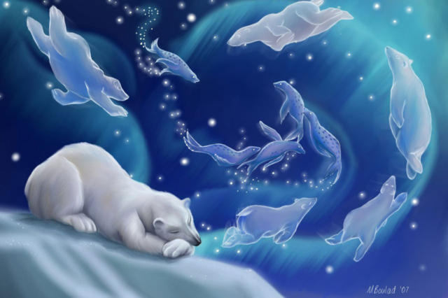 Белый медведь, животные