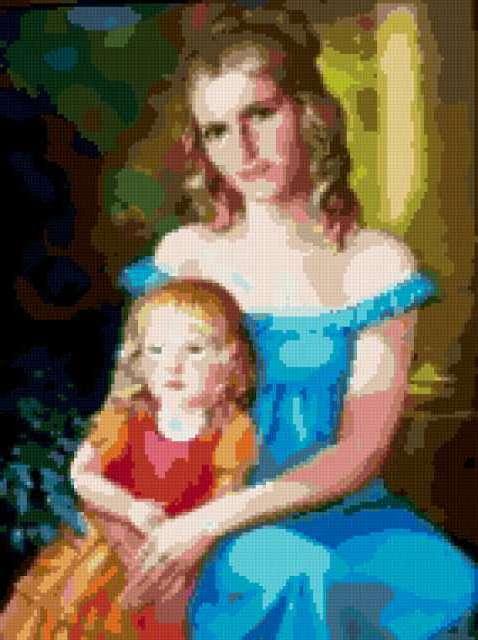 Молодая женщина с ребенком,
