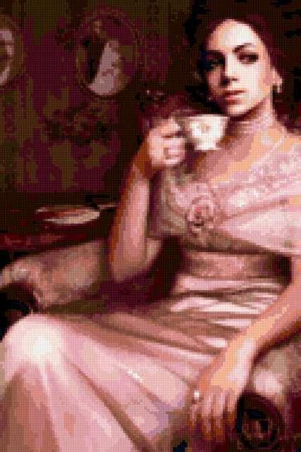 За чашкой чая, предпросмотр