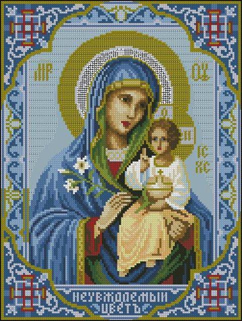 Икона неувядаемый цвет схема для вышивки крестом