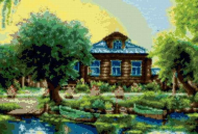 Рыбацкая деревня, пейзаж