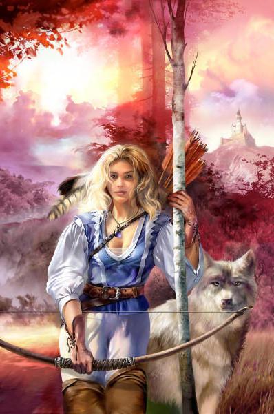 Девушка и волк, оригинал