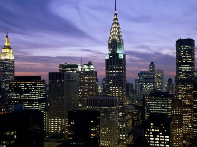 Ночное небо Нью-Йорка,