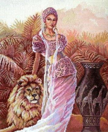 Девушка и лев, оригинал