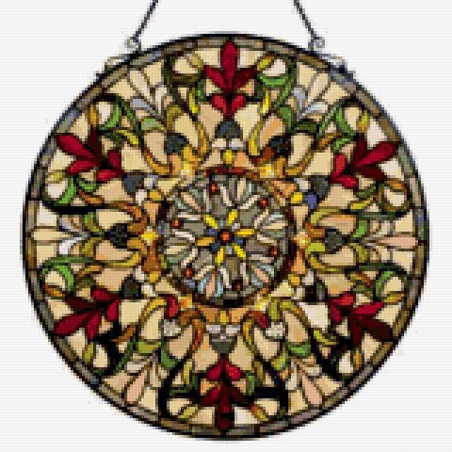 Медальон из стекла