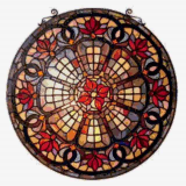 Медальон из стекла 2,