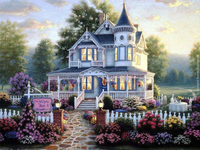 Дом замок, замок