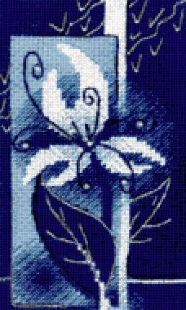 Синяя фантазия, цветы
