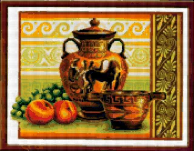 Греческие вазы, натюрморт