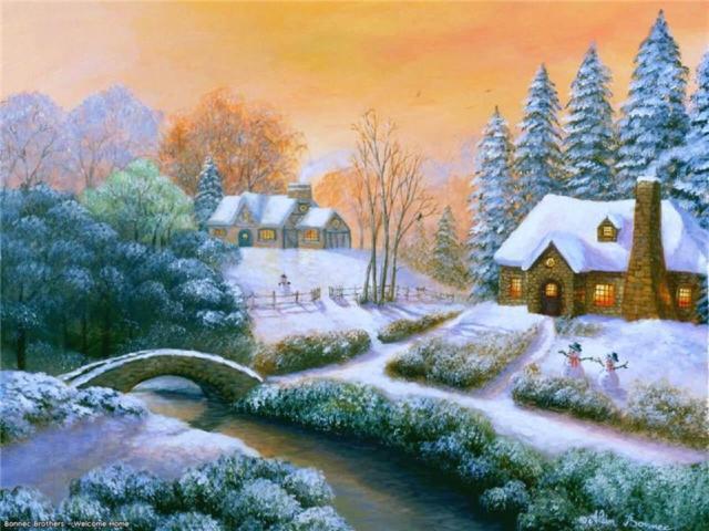 Зимний домик, домик