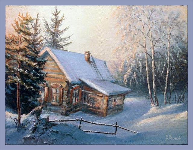 Зимний домик, домик, зима