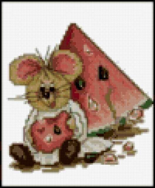 Мышка и арбуз, предпросмотр