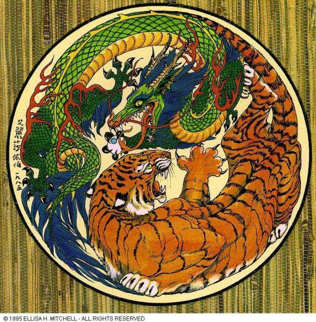Фен-шуй, дракон, тигр, фен-шуй
