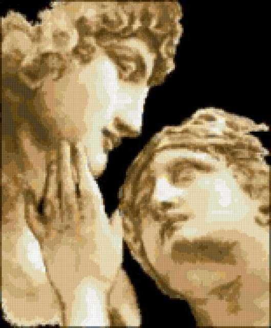 Античная любовь, пара, мужчина