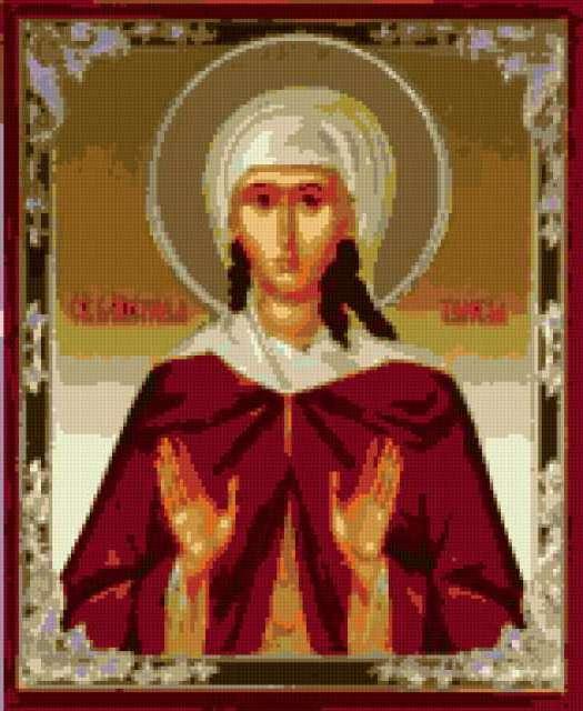 Вышивка крестом именных икон