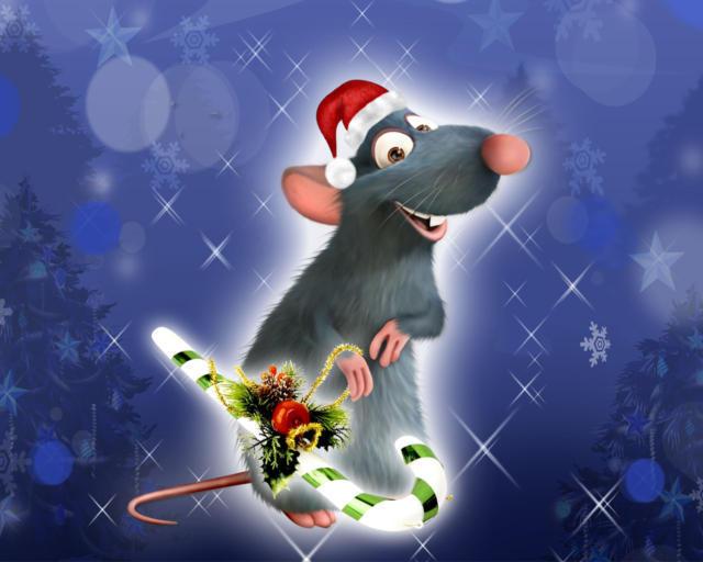 Новогодняя крыса, оригинал