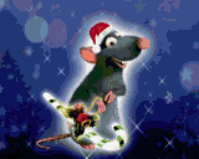 Новогодняя крыса, предпросмотр
