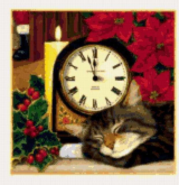 Котик и часы, предпросмотр