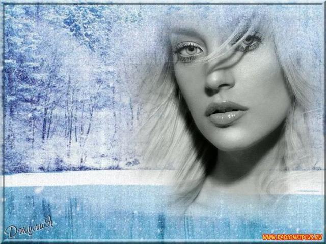 Девушка-зима, зима, девушка,