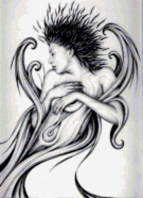 Ева, а.гонзалис, черно-белое