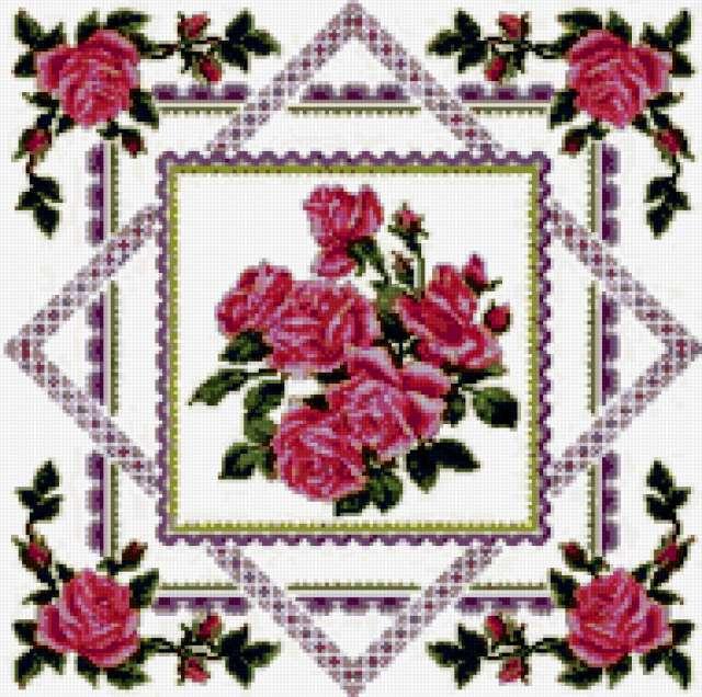 Салфетка Розы, салфетка, узоры