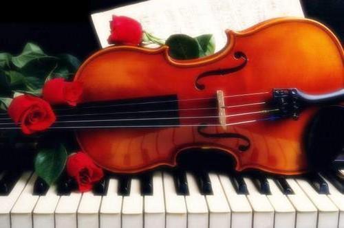 скрипка, пианино, розы,