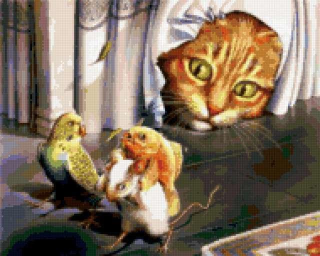 Кот и еда, предпросмотр
