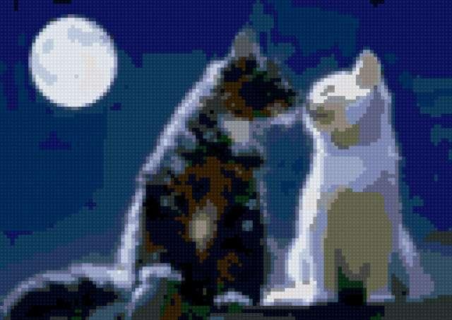 Луна и поцелуй, предпросмотр