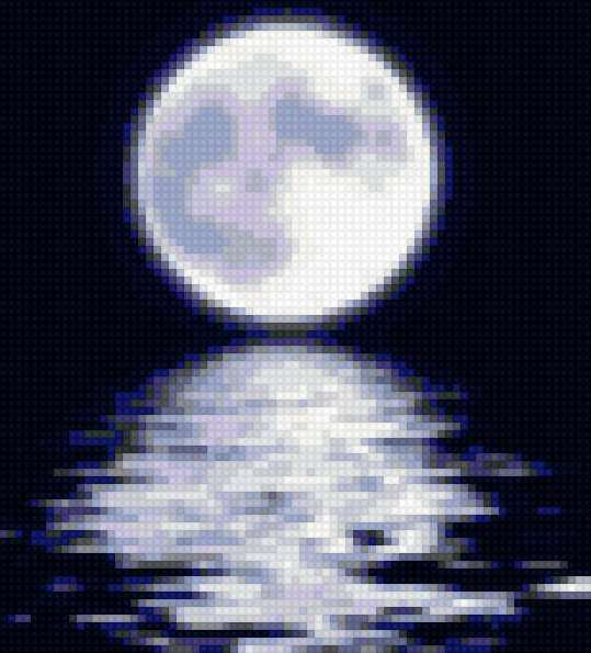 луна, ночь, романтика