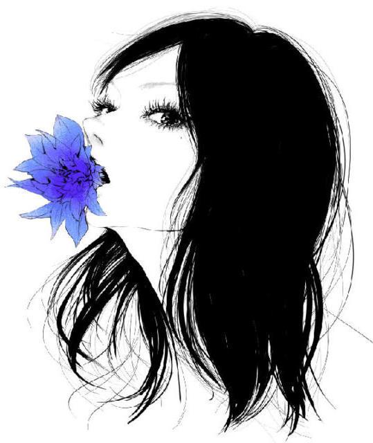 Монохром, девушка, красивая