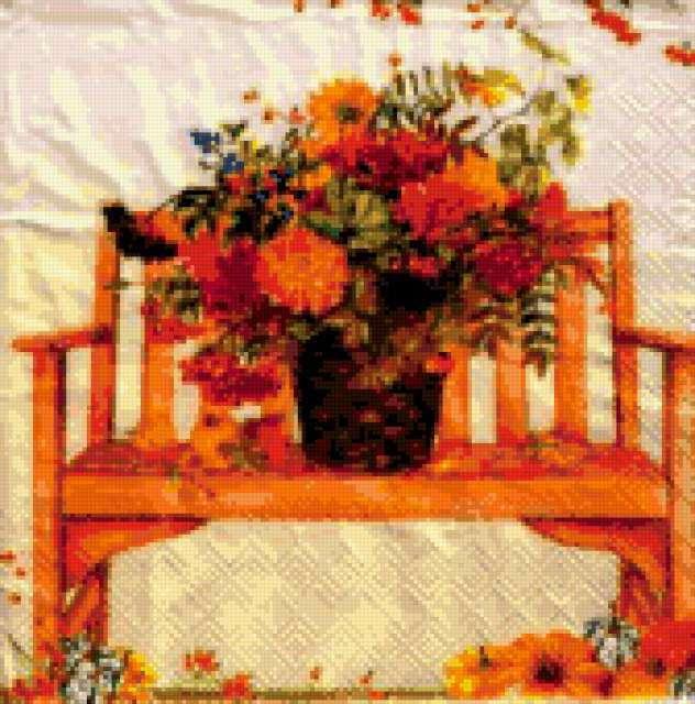Садовая скамейка, предпросмотр