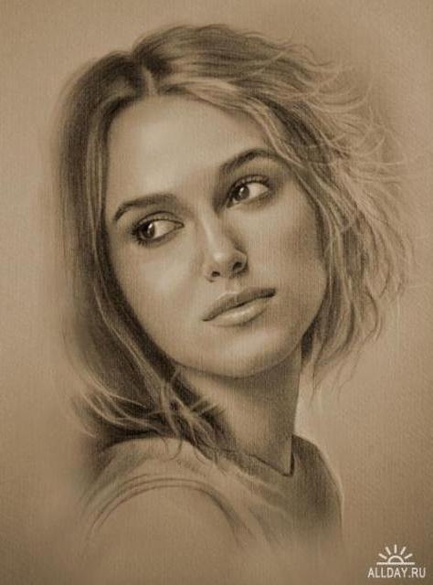 Портрет, девушка, красивая