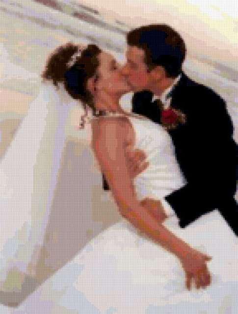Свадебный поцелуй, свадьба